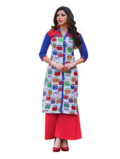 Sinina Multi Color Designer Cotton Printed Work Kurti -Tbeauty207