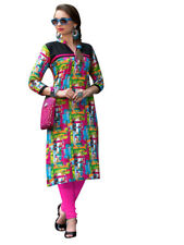 Sinina Multi Color Designer Cotton Printed Work Kurti -RLook107