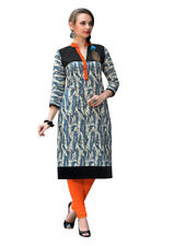 Sinina Multi Color Designer Cotton Printed Work Kurti -RLook114