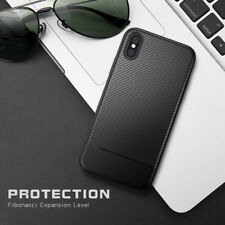 Luxury Carbon Fiber Soft TPU Silicone Thin Case Cover For iPhone X 8 7 6s 6 Plus