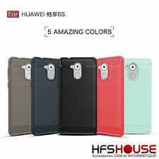 POUR HUAWEI HONOR 6C COQUE HOUSSE ETUI CARBONE SILICONE GEL CASE COVER