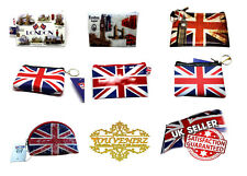 London Souvenirs PVC Coin Purse Keychain Keyring Union Jack London Icons UK Gift