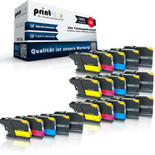 20 x Repuesto Cartuchos de tinta para Brother LC121/LC123 CASETTES -drucker