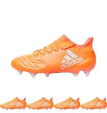 FASHION adidas Mens X 16.1 SG Leather Football Boots Solar Red/Silver Metallic/
