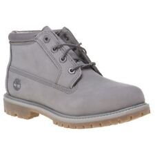 New Womens Timberland Grey Nellie Chukka Nubuck Boots Ankle Lace Up