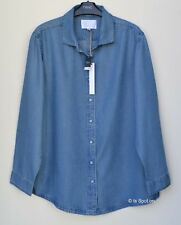 Womens Next Downtime Loungewear Denim Blue Shirt, Size 10, 12, RRP£26, BNWT