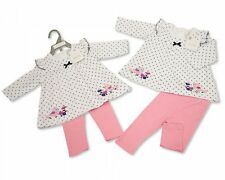 Baby Girls Clothes Dress and Leggings Polka Dot Nursery Time 0-3 m 3-6 m 6-9 m