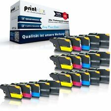 20 x Impresora Cartuchos de tinta para Brother lc-121/lc-123 Set Ahorro -easy