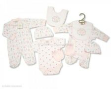 Baby Girl Clothes 5 Piece Gift set  layette Pink sleepsuit vest   NB - 6 months