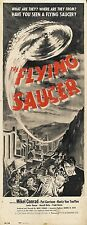 VINTAGE B Poster del film THE FLYING SAUCER Stampa Art A4 A3 A2 A1