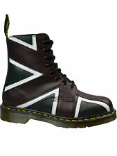 Dr. Martens Doc 8 loch Stiefel Boot Pascal Brit Navy & Oxblood UK Flag  #5119