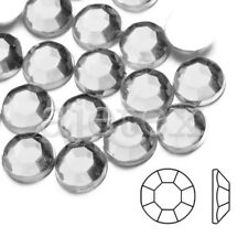 Blanc1000pcs SS4-SS46 Flat Back Strass Appartement Perles Ongles Nail Manucure