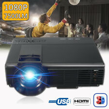 7000 LUMENS 3D 1080P FULL HD HOME TEATRO MULTIMEDIA VGA USB HDMI LED PROYECTOR