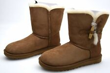UGG AUSTRALIA WOMAN WINTER ANKLE BOOTS CHESTNUT SUEDE CODE W KEELY 1012362 W