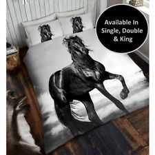 Cheval Noir Housse de couette ensembles disponible en simple, double & King