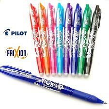 Pilot Frixion Pen Erasable 0.7mm Rollerball Pens Write Heat Erase Refills Ink