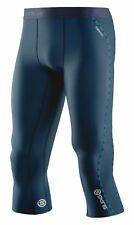 Skins DNAmic Thermal 3/4 Tights Mens Unisex Thermal Base Layer Winter New