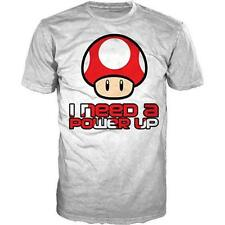 Nintendo - I Need A Power Up Camiseta Algodón - Nuevo Y Oficial Super Mario Bros
