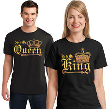 Couples Matching T Shirt BFF My Queen My King Unisex Sizes Small to 6XL and Tall