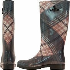 Vivienne Westwood Stivale in gomma tartan, Wellington classic boots