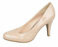 "Donna Anne Michelle color carne VERNICE SLIP ON Scarpette con 3.5 "" tacco L2207"
