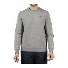 AERONAUTICA MILITARE MAGLIA SWEATER Round Neck MA1068 WOOL Grey Fashion Man 2017