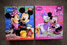 DISNEY MICKEY MOUSE CLUBHOUSE Or MINNIE MOUSE BOW 46 PIECE FLOOR PUZZLE JIGSAW