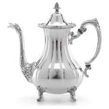 $375 NEW in Box Burgundy Silverplate 7 Cup Coffee Pot by Reed & Barton
