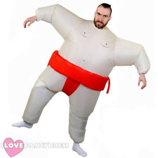 INFLATABLE SUMO COSTUME WRESTLER BLOW UP FAT SUIT ADULT STAG NIGHT FANCY DRESS