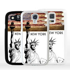 Cover NEW YORK Statua della Libertà per Samsung Galaxy A J S Edge Plus Note Mini