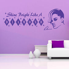 RIHANNA Brillante Brillo LIKE A Diamante Adhesivo de vinilo para pared