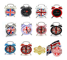 London Souvenirs Mini Alarm Clock UK Union Jack British Table Travel Pocket Desk