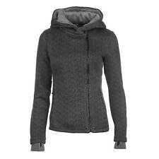Bench Cardigan con pile BREVE BONDED giacca grigio donna maglione in pile giacca