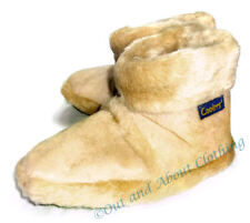 Ladies Coolers Beige Fluffy Boot Slippers - Fluffy Warm Lining