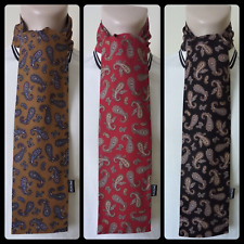 PRETTY SOUL MUSTARD, RED OR BLACK PAISLEY HANDMADE MOD SCARF SCOOTER 60s RETRO