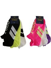 Authentic Ralph lauren polo womens low sports trainer double tabbed socks pk 3