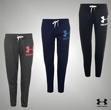 Ladies Genuine Under Armour Closed Hem Logo Fleece Joggers Trousers Size 8-16