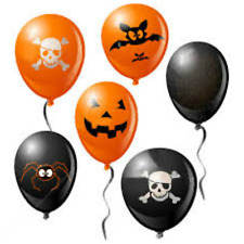 """12"""" Pumpkin Spider Web Balloons for Halloween Decoration Party Supplies baloons"""