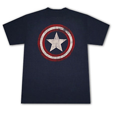 Fruit of the Loom  T-shirt CAPTAIN AMERICA Distressed Shield Logo