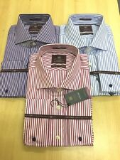 EX-M&S  PURE COTTON Mens LUXURY  SUPERIOR 2 FOLD COTTON  French Cuffs SHIRTS
