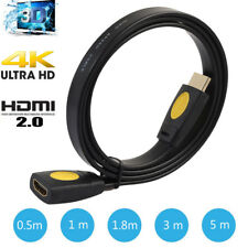 HDMI Cable de Extensión Macho a Hembra Lead V2.0 3d 4k For Ps4 Xbox HDTV 0.5-5M