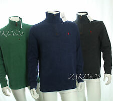 BNWT POLO RALPH LAUREN HALF ZIP SUEDED PULLOVER RIB GREY IN SIZE LARGE