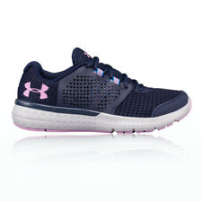 Under Armour Micro G Fuel RN Womens Pink Blue Training Shoes Trainers Pumps