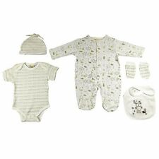 Baby 5 Piece Layette Clothing Set In a Net Bag Gift Set - Bear (0/3-3/6 Months)