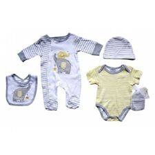 Baby Luxury 5 Piece Layette Clothing Gift Set - Elephant In Grey - 0/6 Months