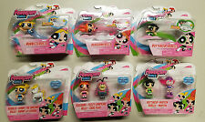 Powerpuff Girls Bubbles Blossom Buttercup Figure Pack 6x Total Lot - New Sealed