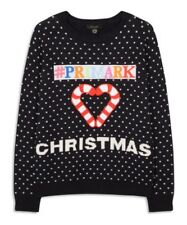 Primark ladies Christmas Personalise Jumper XMAS Knitted navy jumper BNWT