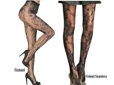 Ladies Floral Pattern Fishnet Pantyhose Black Lace Tights UK10/12 Choice