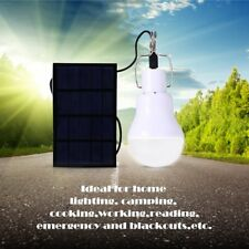 Solar Panel Lights LED Lamp Outdoor Camping Portable Bulb 1.2W Powered
