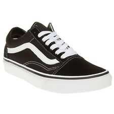 New Boys Vans Black Old Skool Canvas Trainers Lace Up
